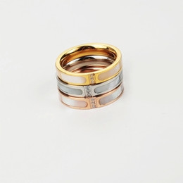 south indian gold finger ring designs 2019 - New design hot sale stainless steel good quality can't not fade color three color fashion wedding fashion finger ri