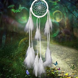 Car Ornaments Canada - Dream Catcher Antique Imitation Enchanted Forest Dreamcatcher Gift Handmade Dream Catcher Net With Feathers Car Hanging Decoration Ornament