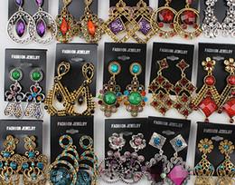 steel earring studs 2019 - Hotsell women big earrings vintage dangle chandelier pendants earring stud charm jewelry colorful Boutique hot sell disc