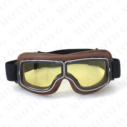$enCountryForm.capitalKeyWord Canada - 2017 NEW Arrival WWII Vintage Harley style motorcycle goggles Pilot Motorbike goggles Retro Jet Helmet Eyewear 4 color lens