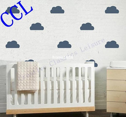 $enCountryForm.capitalKeyWord Canada - Free shipping Nursery wall decal , Vinyl clouds sticker for kids room wall decor ,k3300