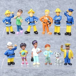$enCountryForm.capitalKeyWord Australia - 12Pcs Set Fireman Sam Action Figure Toys Playset PVC Dolls Kids Birthday Gift (Color: Multicolor)