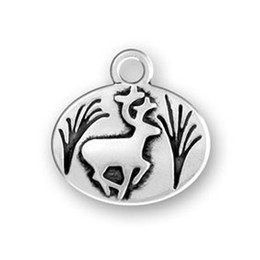 running decorations UK - 50Pcs Alloy Festival Decoration Charm Running Deer Animal Charm Jewelry