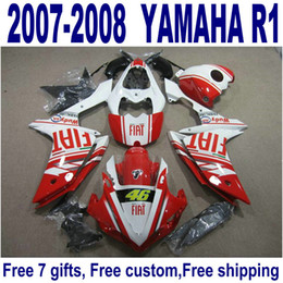 Abs Australia - HOT ABS fairing kit for YAMAHA YZF R1 2007 2008 red white black high quality fairings set YZF-R1 07 08 YQ41