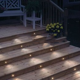 Good Wholesale Waterproof IP67 DC12V Patio LED Deck Light 0.4W LED Garden Lighting  Floor Lamp Set Of 10(WW,CW R,G,B,Y,RGB)
