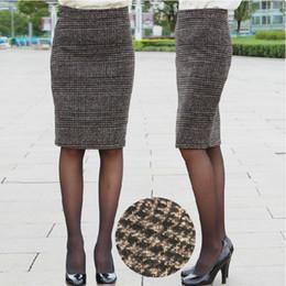 Discount Plaid Wool Pencil Skirt | 2017 Plaid Wool Pencil Skirt on ...