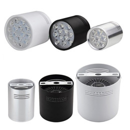 Chinese  Dimmable LED Downlights 6W 10W 18W 24W Surface Mounted Ceiling Lamps Spot Light White Black Silver AC85-265V manufacturers