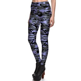 1ca416c048ce1 2017 NEW 3883 Army ocean camouflag CAMO Prints Sexy Girl Pencil Yoga Pants  GYM Fitness Workout Polyester Women Leggings Plus Size