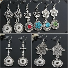 wholesale interchangeable earrings 2019 - 2016 NOOSA Ginger Snaps Earring Trend Jewelry Interchangeable DIY Hooks Earring with Beads Fringes Chains Decoration 9 s