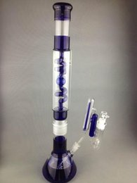 glass water pipe coils 2018 - 22'' Big Blue Glass Bong Fantastic Removable Design Coil Condenser Bong Water Pipe Glass Smoking Pipe with New