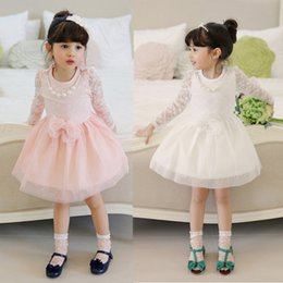 Mini aMerican girl clothes online shopping - New Children Kids Girl s Casual Dresses Spring Summer Autumn White Girls Lace Dress Princess Mini Dresses Kid Baby Clothes
