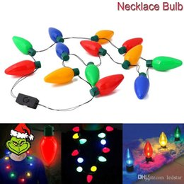 Discount angel gifts - Christmas Necklace LED Light Up Bulb Party Favors For Adults Or Kids As A New Year Gift
