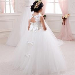 7ec67e727 Little Queen Dress White Lace Flower Girl Dresses Wedding Party Beaded  Waistline Children's Dress 2018 Hot Selling