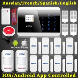 Ios Alarm NZ - LS111- New Kit house office Quadband Smart IOS android APP Control LCD GSM Sim call Touch security Voice Safety Alarm F Home protection