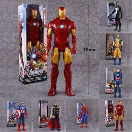 "$enCountryForm.capitalKeyWord NZ - 11.4""29CM Super Hero Model Toys Avengers Action Figure Toy Captain America,Iron Man,Wolverine,Spider-Man,Raytheon Model Doll Kids Gift LA548"