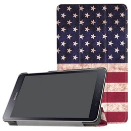 """stand pouch tab 2019 - For Samsung Tab A 8.0"""" 2017 T380 T385 Paris Eiffel Tower Stand Leather Case Flip Flower Pouch USA Flag Butterfly Sm"""
