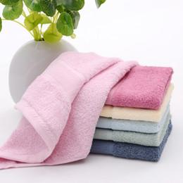 $enCountryForm.capitalKeyWord Australia - 34*34cm High Quality bamboo fiber Hand towels Magic Face Turban Wrap Towel Quick Dry Dryer Bath make up Square towel Children's towels mk14