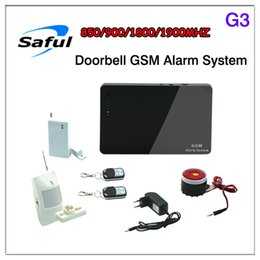 Quad Gsm Alarm Canada - New Quad band Android IOS APP Security GSM Burglar Home Alarm System G3 with Wireless Emergency Button And Function of Doorbell