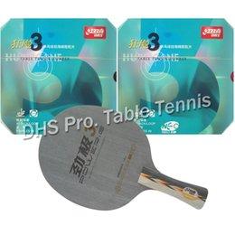 China Wholesale- DHS Pro Combo Racket POWER G3 PG3 PG.3 PG 3 long shankhand-FL + 2x NEO Hurricane3 long shankhand FL cheap g3 pro suppliers