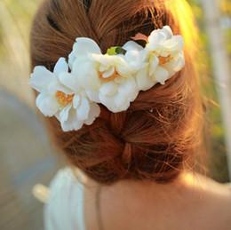 Flower Hairpin Brooch Canada - Hair Pins hair clips Satin chiffon flower hair clip Brooch Artificial Silk Flowers Camellia Rose Hair Accessories Hairpin Edge Clip Free DHL