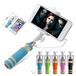 Selfie Stick mini one monopod online shopping - Super Mini Monopod Wired Selfie Stick Foldable all in one monopod Extendable Handheld Self portrait Sticks