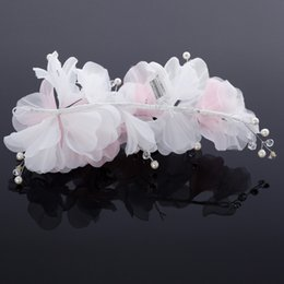 $enCountryForm.capitalKeyWord Canada - 2015 Vintage Attractive Net Handmade Flowers Faux Pearl Wedding Bridal Accessories In stock Free Shipping