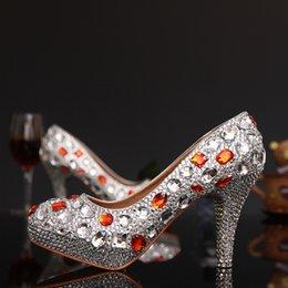 $enCountryForm.capitalKeyWord NZ - Silver Crystal Woman High Heels Shoes Rhinestone Woman Evening Dancing Dress Shoes Ladies Stiletto Heels Shoes sapatos Femininos