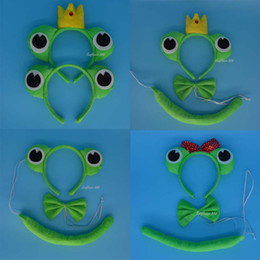 $enCountryForm.capitalKeyWord NZ - 2017 New Kids Adult Prince Frog Headband Bow Tie Tail Animal Cosplay Hair Accessories Halloween Party Supplies Stage Show