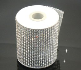 Wholesale Factory directly sale! 24Row hotfix clear rhinestone cover skin Cloth Appliques 120cmX7.6cmfor handmade diy sewing accessories