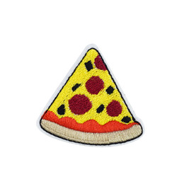 $enCountryForm.capitalKeyWord UK - 10 PCS Pizza Embroidered Patches for Clothing Iron on Transfer Applique Food Patch for Jeans Bags DIY Sew on Embroidery Stickers