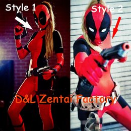 $enCountryForm.capitalKeyWord Canada - Free Shipping DHL New Arrival Full Body Lady Sexy Red and Black Deadpool Zentai Costume Lycra Spandex Halloween Zentai Suit
