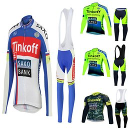 Discount jersey cycling saxo green - tinkoff saxo bank Team brand Pro Long Cycle Jersey Cycling Clothing Ropa Ciclismo Quick-Dry Breathable Bike Sport Wear B
