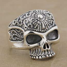 $enCountryForm.capitalKeyWord Canada - Solid 925 Sterling Silver Skull Mens Biker Rocker Ring 9K020 US Size 8~14 Free Shipping