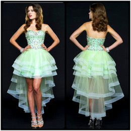 Discount Short Strapless Mint Prom Dresses | 2017 Mint Green Short ...