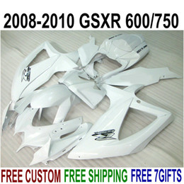$enCountryForm.capitalKeyWord Australia - High quality fairing kit for SUZUKI GSXR750 GSXR600 2008 2009 2010 K8 K9 all white fairings set GSXR 600 750 08-10 TA37
