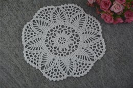 $enCountryForm.capitalKeyWord UK - DIY Design Wedding Handmade Crochet Coasters Doily Placemats Crocheted Doilies Size 7 inches 30 PCS  LOT Custom Color _DSC0084