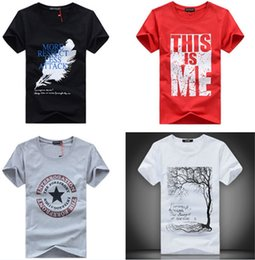 Discount embroidery clothes designs - Men T-Shirts Print fashion men women short sleeves cotton cartoon T-shirt tees clothing apparel colorful many designs gi