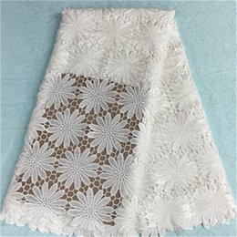 $enCountryForm.capitalKeyWord NZ - Most fashion white flower african water soluble lace embroidery french guipure lace fabric for party dress BW75-9,5yards pc