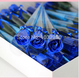 Soap Packages Wholesale Canada - 150pcs  lot Magic rose soap flower,wedding soap ,valentine's day novelty gift ,with bow,good packaging