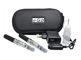 Double Batteries NZ - Ego t double starter kit electronic cigarette CE4 atomizer clearomizer 650mah 900mah 1100mah battery ego t battery e cigarette DHL