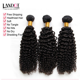 eurasian human hair weave NZ - 3Pcs Lot 8-30 Inch Eurasian Kinky Curly Virgin Hair Grade 7A Unprocessed Eurasian Human Hair Weaves Bundles Natural Black Extensions Dyeable