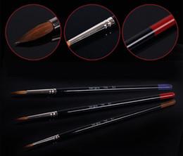 Pens Size Australia - Wholesale-2015 new nail pen sets line brush fit for acrylic painting size 10 art supplies pincel nails line brush pincel para pintura 700