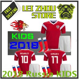 7a894478e The latest children s jerseys in 2018 Rugby World Cup Russia Kids Kit  soccer jersey 1819 home Thailand quality children s clothing Russia