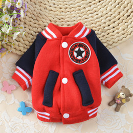 Cool Sweatshirt Jackets Canada - 3 Colors Pet Dog Clothes Winter Soft Coat Baseball Jacket Cool Clothing Spring Costume For Small Cat Middle Puppy Dogs Chihuahua XS-XL