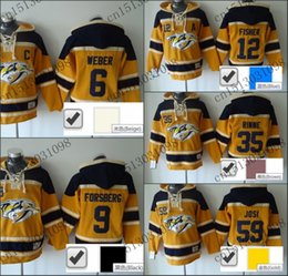 Time jerseys online shopping - Factory Outlet Shea Weber Old Time Nashville Predators Hockey Hoodie Jersey Sweatshirt Jerseys Stitched sewn Numbering Lettering