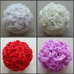 "$enCountryForm.capitalKeyWord Canada - 30 CM 12"" Romantic Artificial Encryption Rose Silk Flower Hanging Ball Kissing Balls For Christmas Ornaments Wedding Party Decorations"