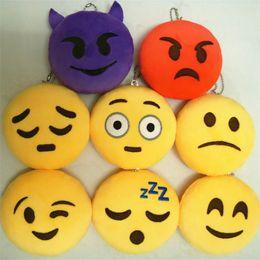 Figure Emotions NZ - 18 Styles Emoji Mobile Pendants Face Emotions Joy Love Smiley Plush Toy Key Chains 10cm Stuffed Toys Doll Charm For Handbag Phones Pendant