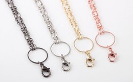 Wholesale Mix Colors DIY Alloy Floating Necklace Chain Fit For Glass Living Charms Locket Pendant
