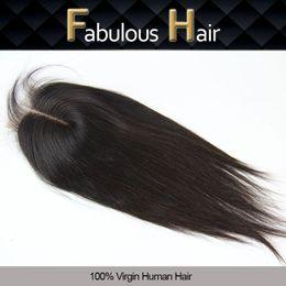 $enCountryForm.capitalKeyWord Canada - Brazilian Malaysian Peruvian Silky Straight Human Virgin Hair Closure 3.5x4 Bleached Knots Cheap Unprocessed Virgin Hair Lace Top Clousre