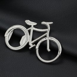 Bicicleta Bicicleta Abridor de Garrafas Vinho Cerveja Cap Lifter Chaveiro Chaveiro para Ciclista Presente Prata Suporte Livre FBA Envio D330S